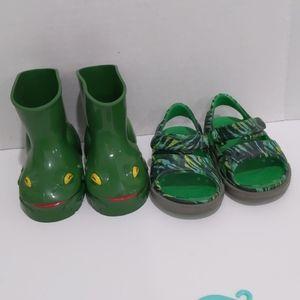 Crocs Sandals and Frog Rain Boots